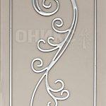 серебряный контур на бронзовом сатинате