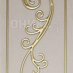 золотой контур на бронзовом сатинате