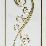 золотой контур на белом сатинате