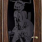 Пескоструйный рисунок на черном триплексе